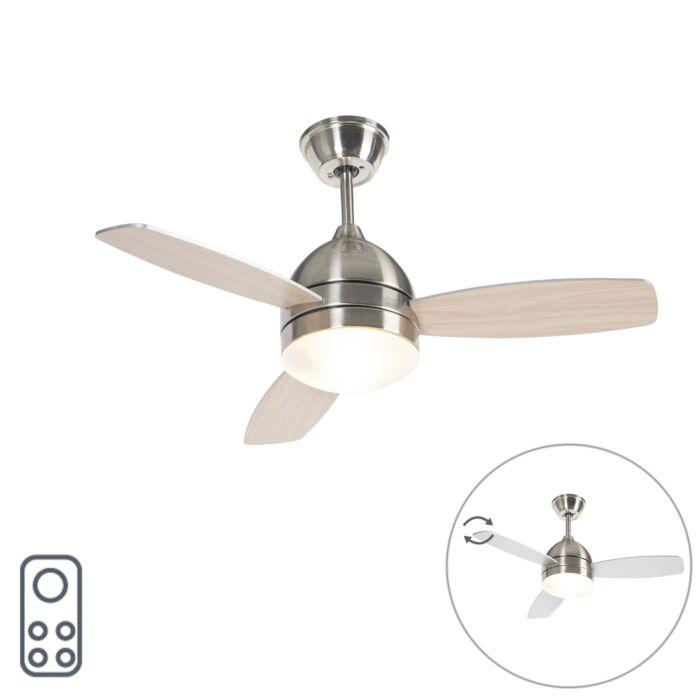 Ocelový-stropní-ventilátor-s-dálkovým-ovládáním---Rotar