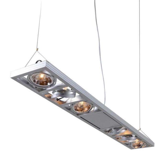 Závěsná-lampa-Kardan-6-dlouhá-hliníková
