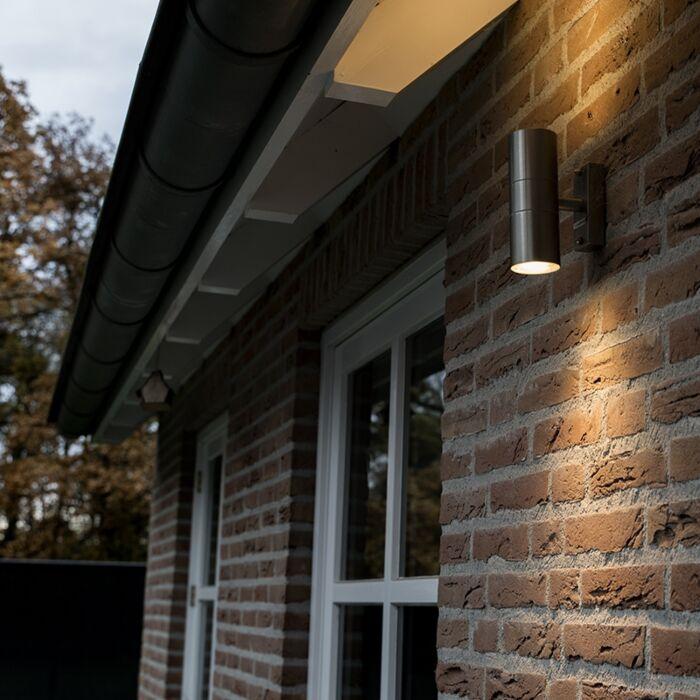 Venkovní-lampa-Duo-ocel