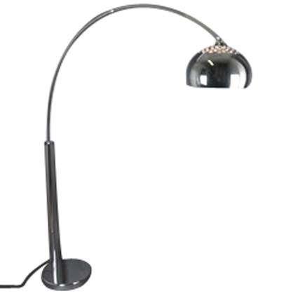 Oblouková-lampa-chrom-s-chromovým-stínidlem
