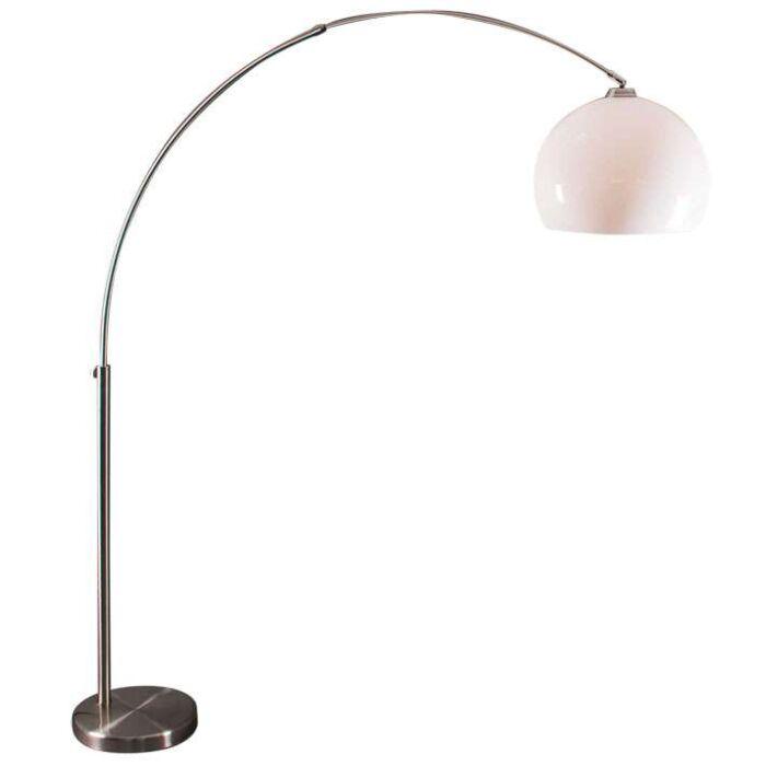 Oblouková-lampa-z-oceli-s-bílým-odstínem-plexi