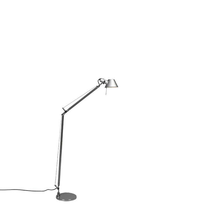 Stojací-lampa-Artemide-hliníková-nastavitelná---Artemide-Tolomeo-Lettura