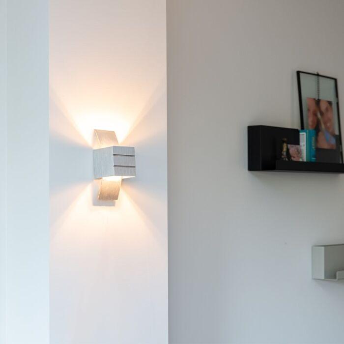 Moderní-nástěnná-lampa-hliníková---Amy