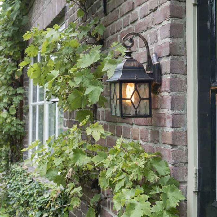 Romantické-venkovní-nástěnné-svítidlo-bronzové---Londýn