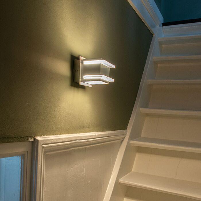 Designové-nástěnné-svítidlo-hliníkové---Block