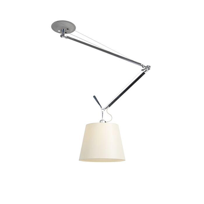 Designová-závěsná-lampa-se-stínidlem---Artemide-Tolomeo-Sospensione-Decentrata