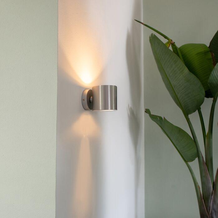 Moderní-nástěnná-lampa-z-hliníku-kulatá---efekt