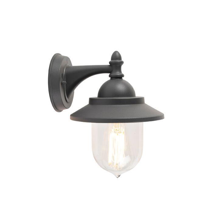 Romantická-venkovní-nástěnná-lampa-tmavě-šedá---Oxford