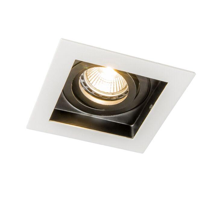 Zapuštěné-bodové-světlo-z-bílé-oceli---Carree