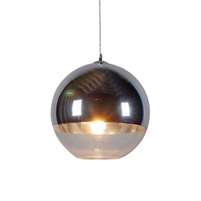 Závěsná-lampa-Ball-40-stříbrná