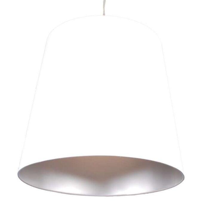 Závěsná-lampa-Stín-bílé-stříbro