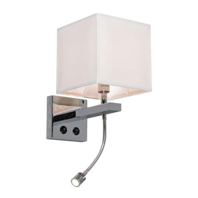 Nástěnná-lampa-Brescia-chrom-s-odstínem-krémová
