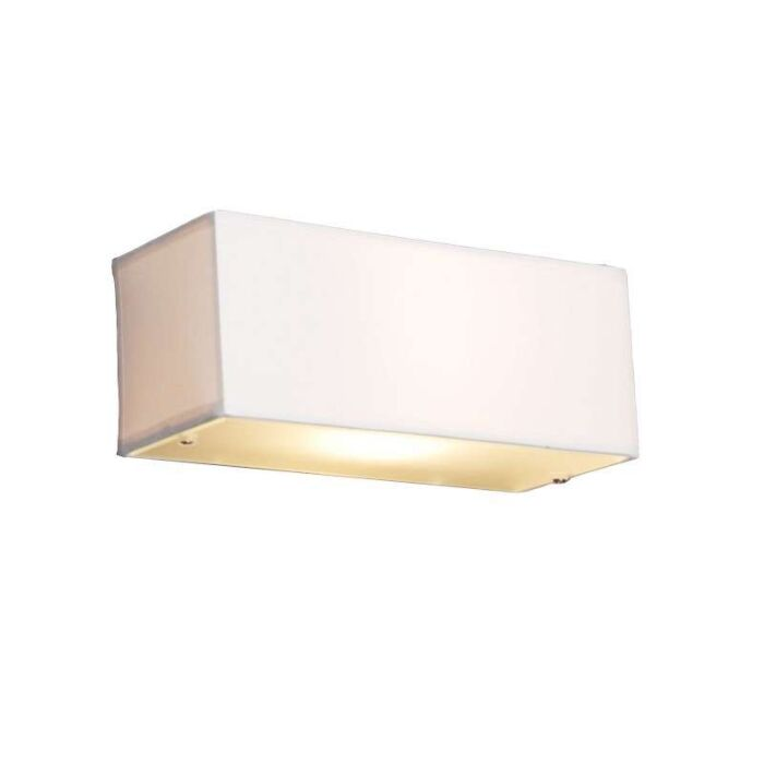 Moderní-nástěnná-lampa-obdélníková-bílá---buben