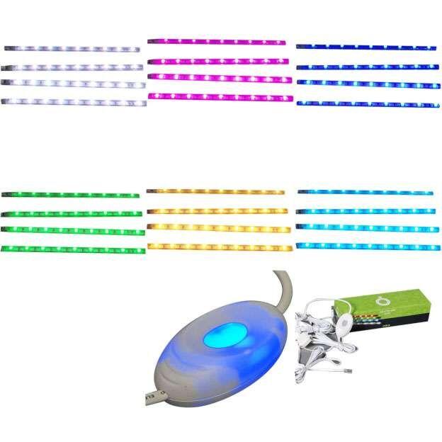 Sada-čtyř-LED-pásků-RGB