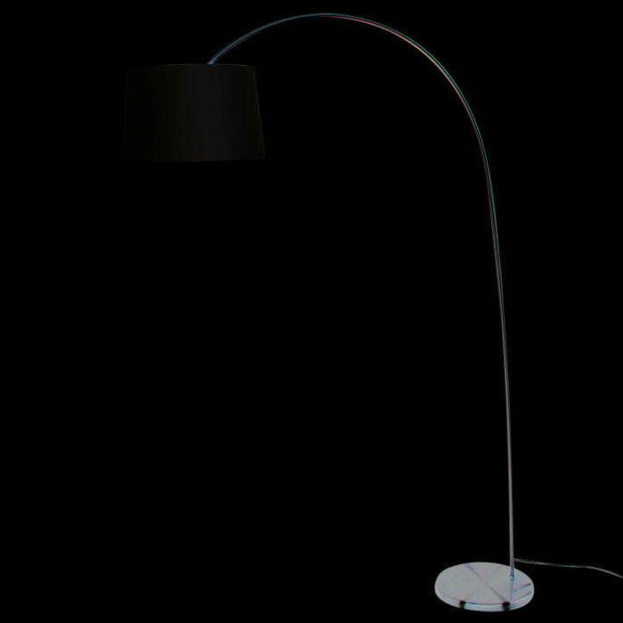 Oblouková-lampa-Easy-ocelové-stínidlo-krémově-bílá