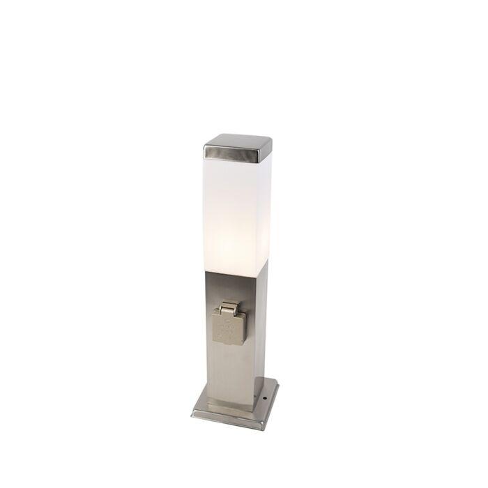 Moderní-venkovní-lampa-45-cm-ocel-s-paticí-IP44---Malios
