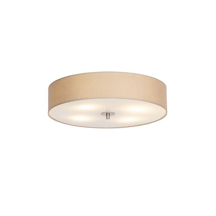 Venkovská-stropní-lampa-béžová-50-cm---buben