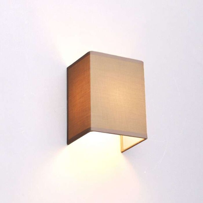 Venkovská-nástěnná-lampa-béžová---Vete
