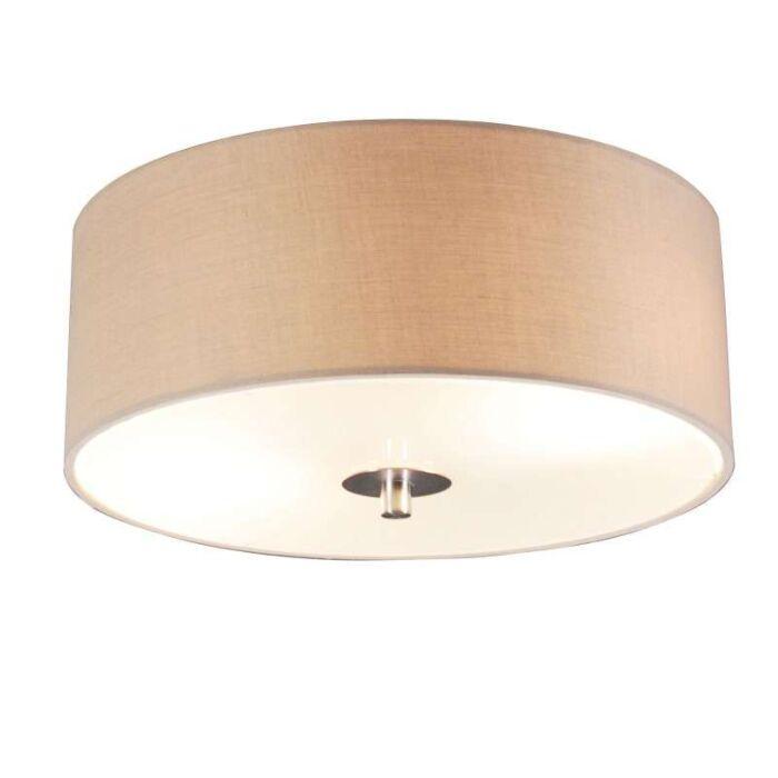 Venkovská-stropní-lampa-béžová-30-cm---buben