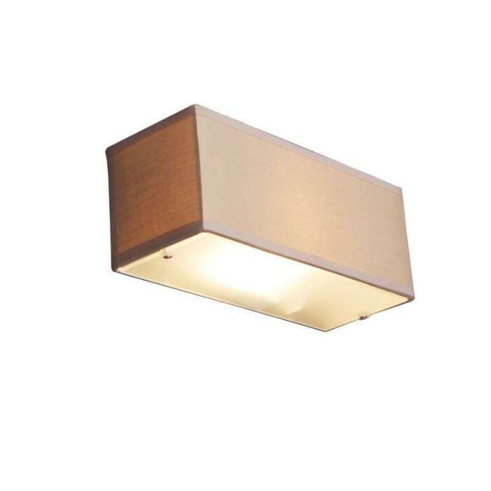 Nástěnná-lampa-Buben-obdélník-béžová