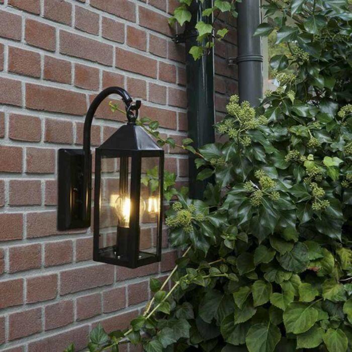 Venkovské-venkovní-nástěnné-svítidlo-černé-IP44---Bussum