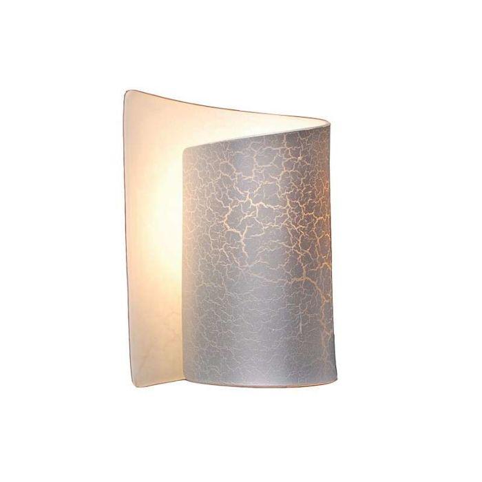 Nástěnná-lampa-Salerno-stříbrná