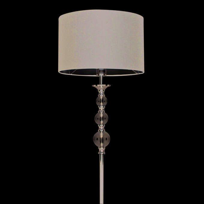 Stojací-lampa-Calabash-chrom-s-černým-odstínem