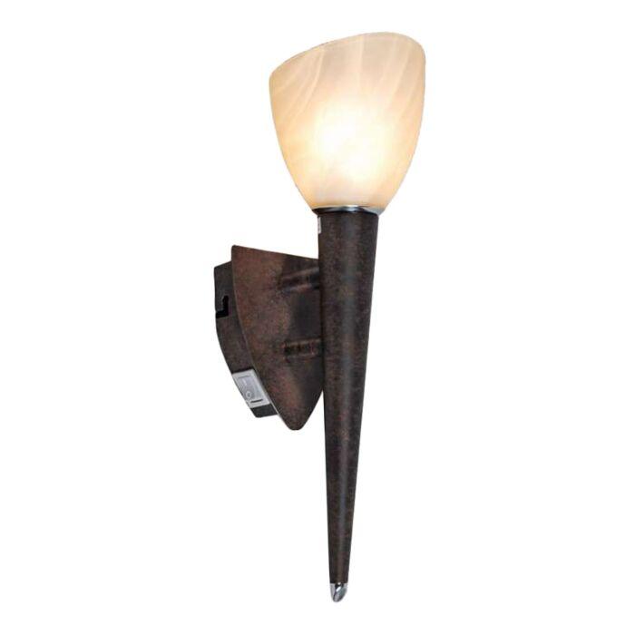 Nástěnná-lampa-Štít-rezavě-hnědá