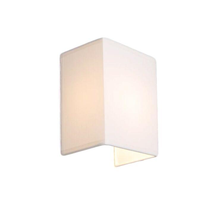 Venkovská-nástěnná-lampa-bílá---Vete