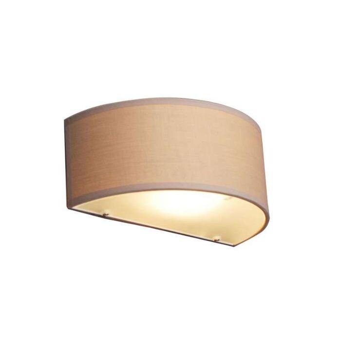 Nástěnná-lampa-Buben-půlkulatá-béžová