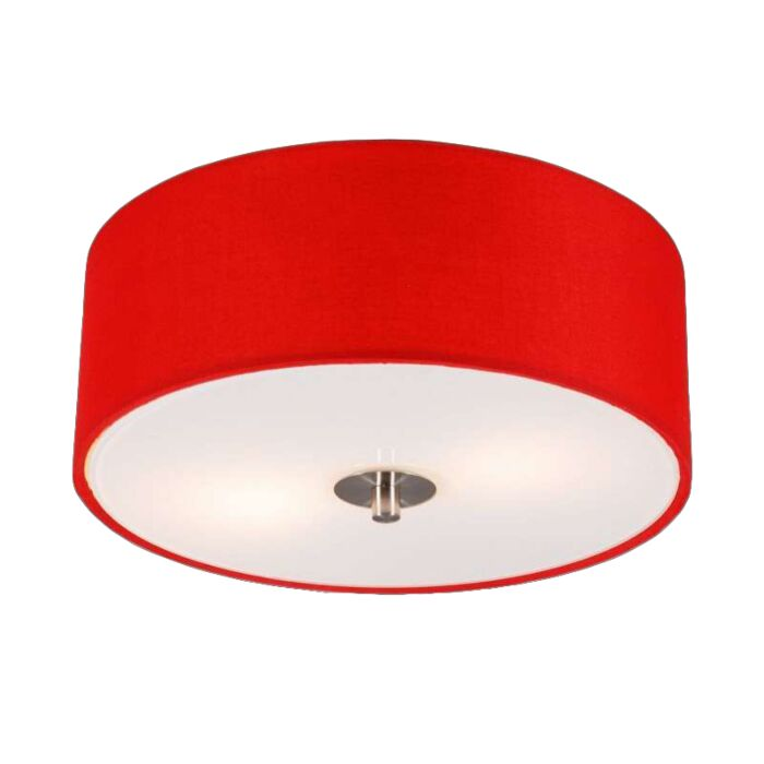 Moderní-stropní-svítidlo-červené-30-cm---buben
