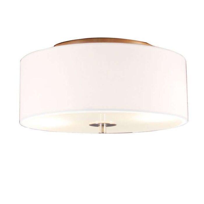 Venkovské-stropní-svítidlo-bílé-30-cm---buben