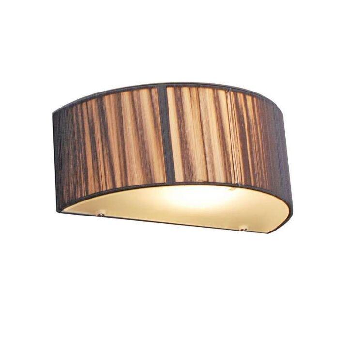 Nástěnná-lampa-Rope-půlkulatá-antracitová