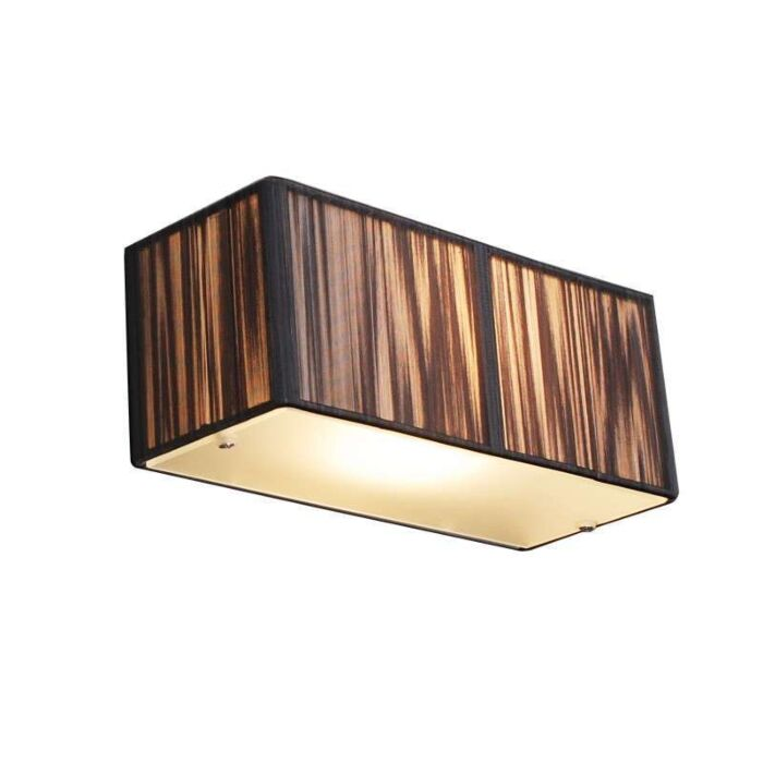 Nástěnná-lampa-Lanový-obdélník-antracit