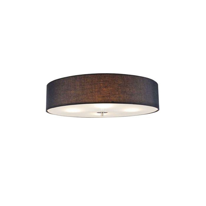 Venkovské-stropní-svítidlo-černé-50-cm---buben