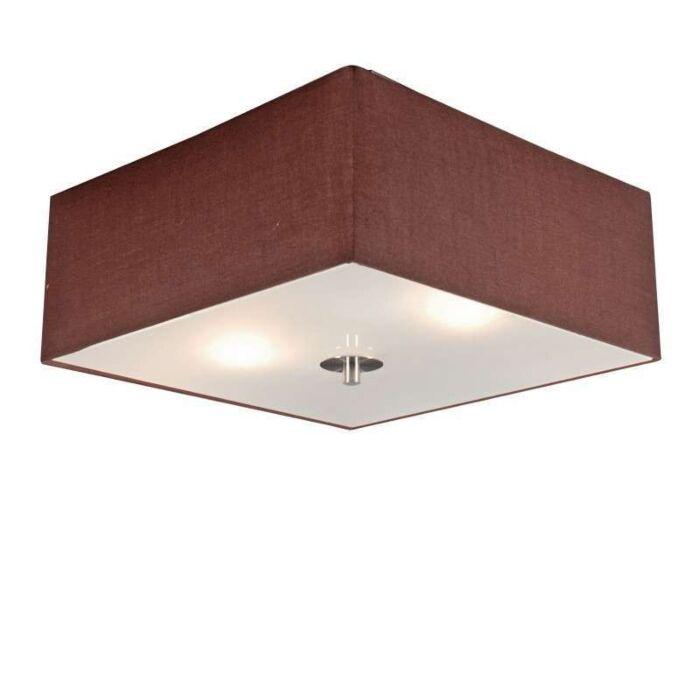 Stropní-lampa-Drum-35-čtvercová-hnědá