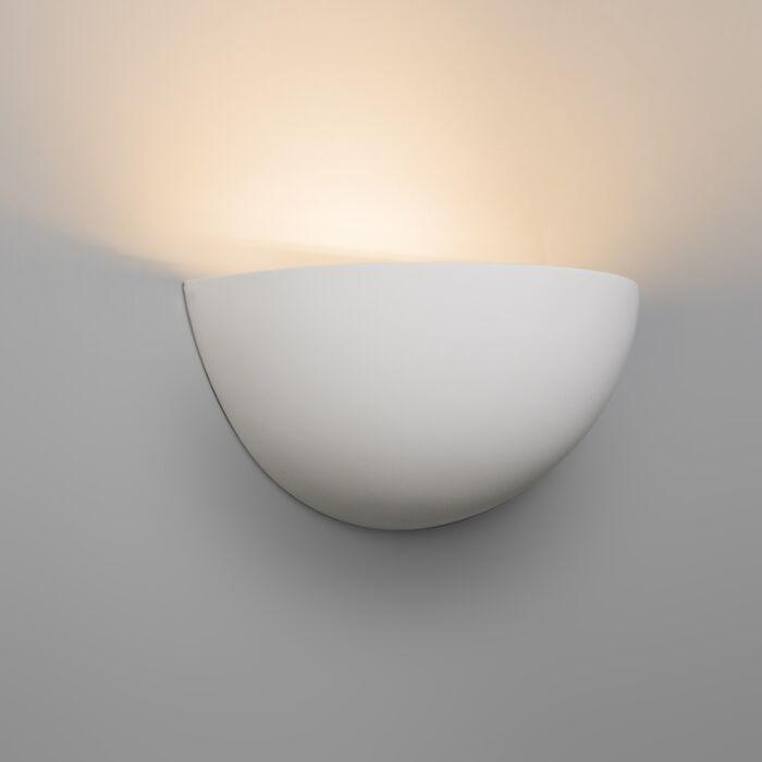 Moderní-nástěnná-lampa-bílá-omítka---Gipsy