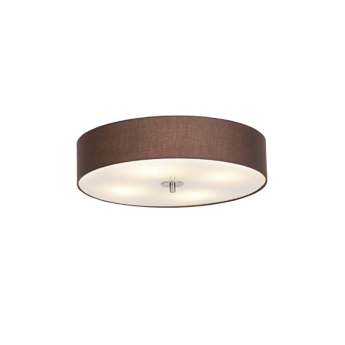 Venkovská-stropní-lampa-hnědá-50-cm---buben