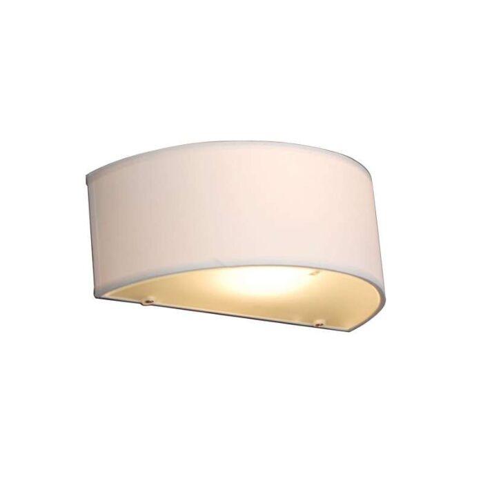 Venkovská-nástěnná-lampa-s-půlkulatým-krémem---Drum