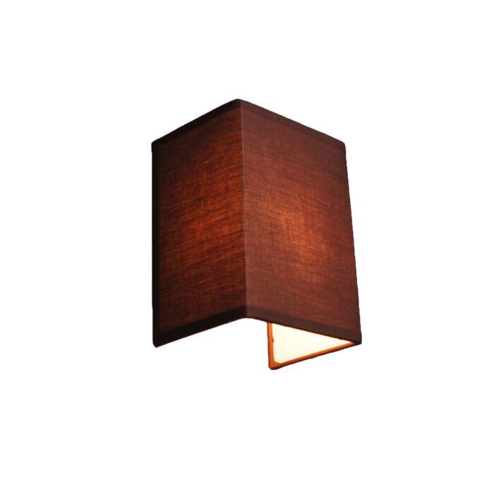 Venkovská-nástěnná-lampa-hnědá---Vete