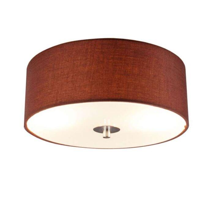 Stropní-lampa-Drum-30-kulatá-hnědá