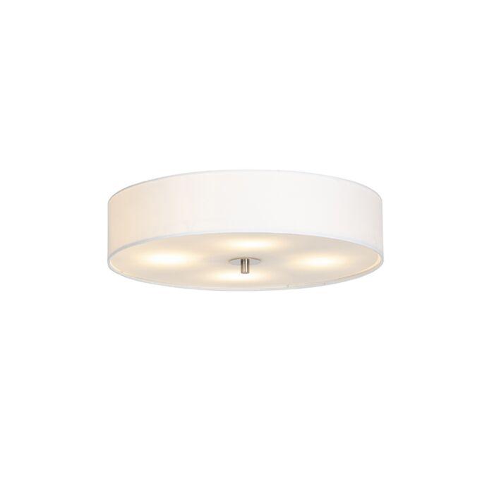 Venkovské-stropní-svítidlo-bílé-50-cm---buben