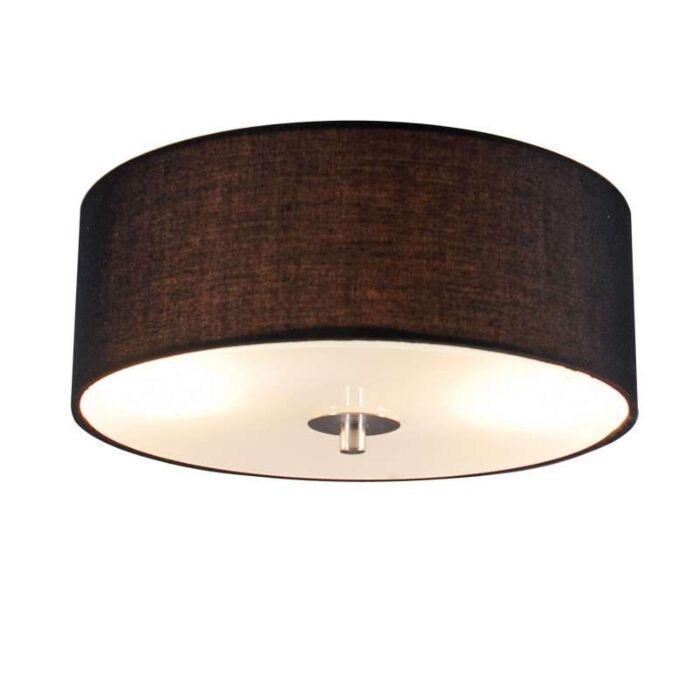 Venkovské-stropní-svítidlo-černé-30-cm---buben