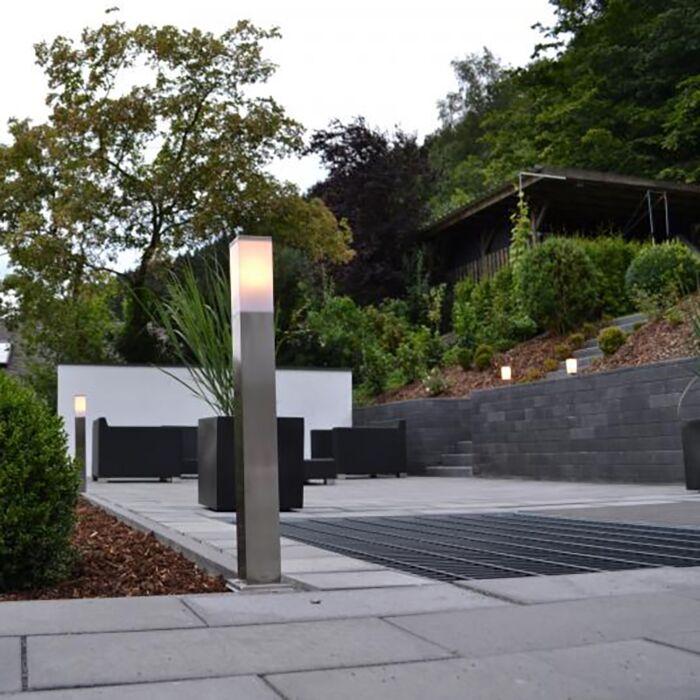 Moderní-venkovní-lampa-80-cm-ocel---Malios