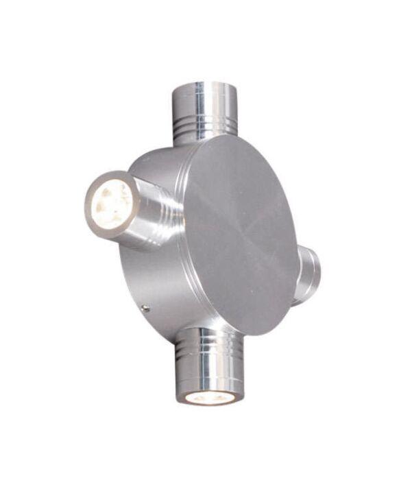 Nástěnná-lampa-Star-LED-4-hliníková
