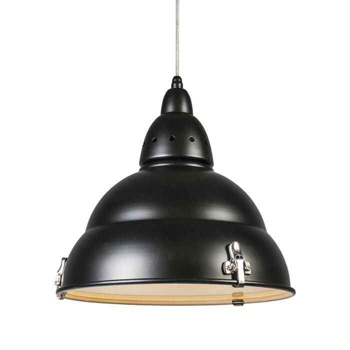 Závěsná-lampa-Factory-černá