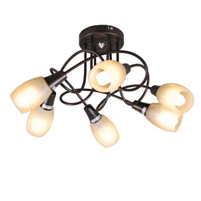 Stropní-svítidlo-Andrea-6-rezavě-hnědé