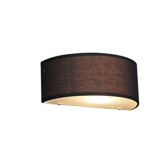 Venkovská-nástěnná-lampa-půlkulatá-černá---buben