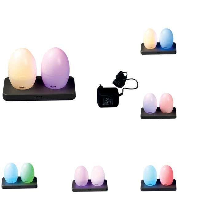 Sada-dvou-LED-lamp-EGG-dobíjecích