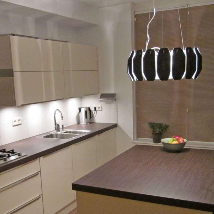 Závěsná-lampa-Archo-chrom---černá